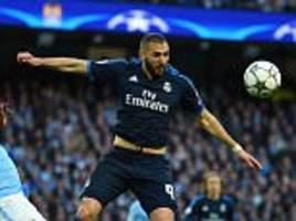 karim benzema a doubt to face manchester city but real madrid hopeful that cristiano ronaldo will be fit for the second-leg