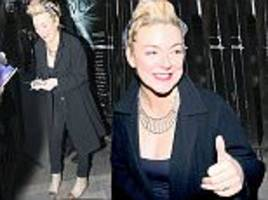 Sheridan Smith greets Funny Girl fans after being accused of slurring her words
