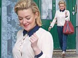 Sheridan Smith looks fresh-faced as she steps out after denying she was drunk during Funny Girl