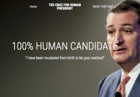 niche election humor is usually awful, but tedcruzforhumanpresident.com gets it right