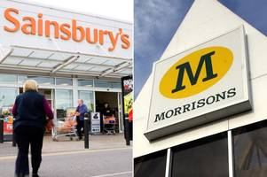 Sainsbury's and Morrisons to launch price war tomorrow - how much could your family save?