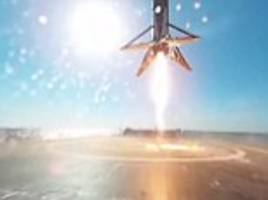 duck! incredible 360-degree footage shows spacex's falcon 9 landing on a barge as elon musk reveals more about how the rocket works