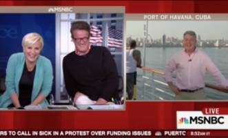 MSNBC's Sanders Gets Hilariously Derailed by Cruise Ship Blowhorn During Report From Cuba