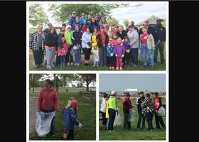 Girl Scouts Clean-Up Sandy Point