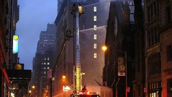 Blaze engulfs New York church
