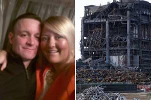 families' anger over possible demolition of didcot power station with explosives while men remain missing