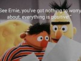 'everything is positive!' famous sesame street duo bert and ernie are used in ad for at-home hiv testing service