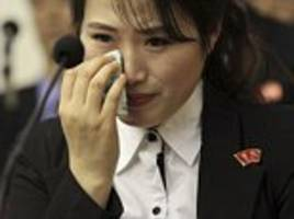North Korean waitresses weep as Kim Jong-un claims their co-workers were 'tricked into defecting by Seoul'