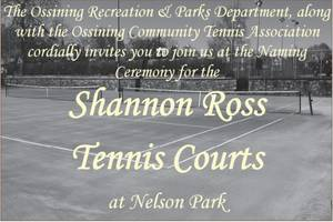 Ossining Names Courts After Shannon Ross