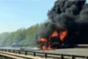 Tyres exploded in wake of A50 crash