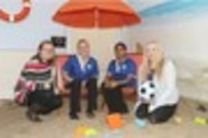 why life's a beach for staff and residents at a llanelli care...