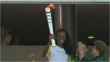 video: olympic flame arrives in brazil