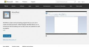 Microsoft WordPad, Other Classic Windows Apps Show Up in Windows 10 Store