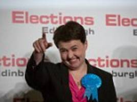 Could the Tories push Labour into third place in Scotland? Ruth Davidson wins seat from the SNP while Corbyn's party suffers near-wipeout