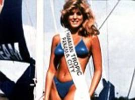 donald trump caught peeking at photo of ex-wife marla maples in a bikini in offensive taco bowl tweet promoting trump tower grill and saying he 'loves hispanics'