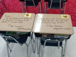what a fifth grade teacher wrote all over her students' desks is heartwarming