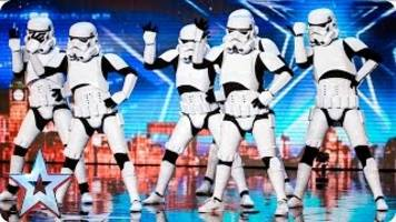who are the dancing stormtroopers that simon cowell gave a golden buzzer on 'britain's got talent?'