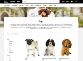 the uk ad regulator has received complaints about online retailer lyst offering dogs 'for sale' as fashion accessories