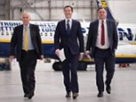 quentin letts watches scare force one at stansted airport