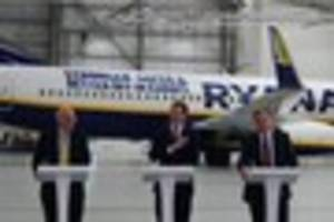 george osborne joins stansted airport and ryanair bosses to back...