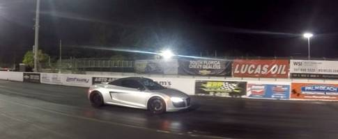 how bad can an audi r8 v10 lose to a tesla model x in a drag race? this bad