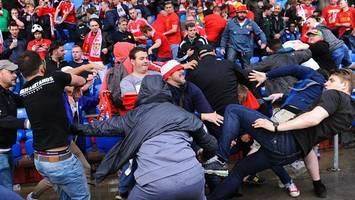 video: fans brawl at europa league final