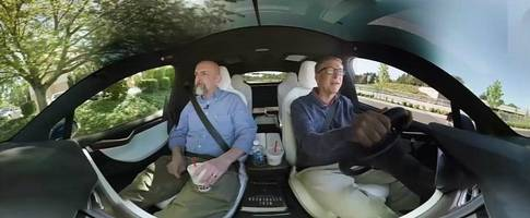 """bill gates drives the tesla model x, orders burger with """"onions and stuff"""""""