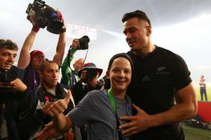 Sonny Bill Williams wins award for giving away his World Cup winners medal to a young boy who tried to hug him