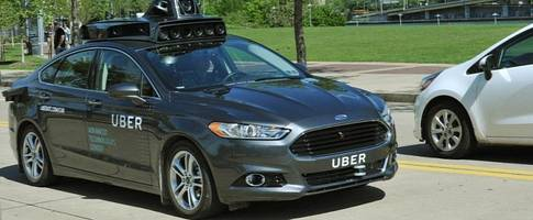uber's self-driving car gets its first official photo, looks menacing