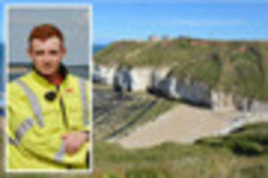 Rookie rescuer helps save couple 'clinging for lives' on cliffs