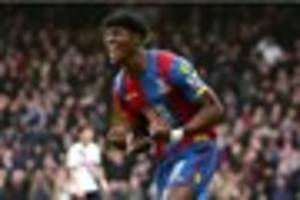 why was crystal palace star wilfried zaha crying on the pitch...