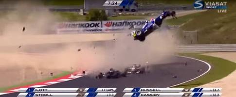 Monster Three-Car Crash in FIA Formula 3 Ends the Race Prematurely