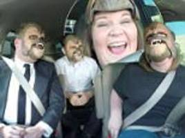 Chewbacca mom takes a ride with James Corden and Star Wars director JJ Abrams