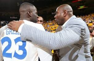 magic johnson sees nothing wrong with draymond green kicking steven adams