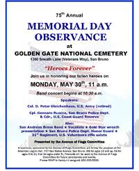 riechel informs:  memorial day - lest we forget