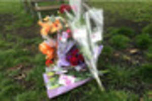 Flowers and tributes left to young mum in Cary Park, Torquay