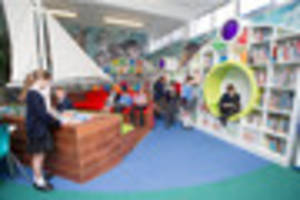 crawley school gets brand new library - with boat and bed where...