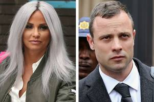 katie price reveals oscar pistorius sent her direct messages during his murder trial
