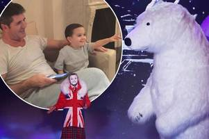 Simon Cowell books Britain's Got Talent polar bear act for son Eric's third birthday but Alesha Dixon's not invited
