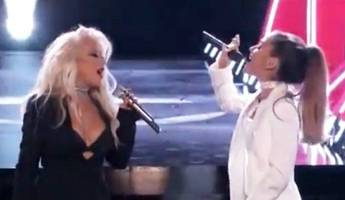 Check Out Christina Aguilera's Powerful Duet With Ariana Grande on 'The Voice'