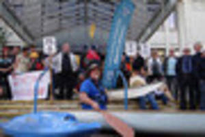 poole harbour canoe club protests about car parking charges...