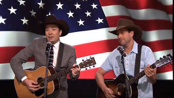 Jimmy Fallon and Adam Sandler perform tribute song for troops