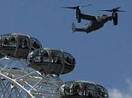 sas take the to the skies over london in anti-terror helicopters a day after isis widow issued a warning over the capital's tubes this summer