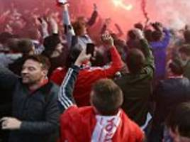 liverpool hit with £8,400 uefa fine after fans set off fireworks in europa league quarter-final against borussia dortmund