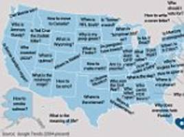 Google questions asked most for each US state revealed