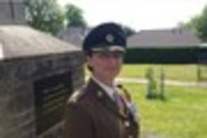 wincanton parade: lieutenant colonel lucy giles welcomed home by...