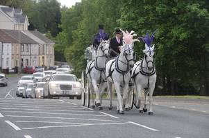 my big fat gypsy funeral! white limousines, doves and £16,000 of flowers to say farewell to the 'queen of the gypsies'