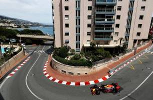 red bull racing's daniel ricciardo tops thursday practice in monaco