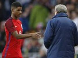 marcus rashford watch: manchester united striker given standing ovation after scoring scorching volley on england debut