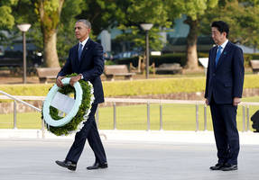 we come to mourn the dead - obama is first sitting president to visit hiroshima, offers no apology
